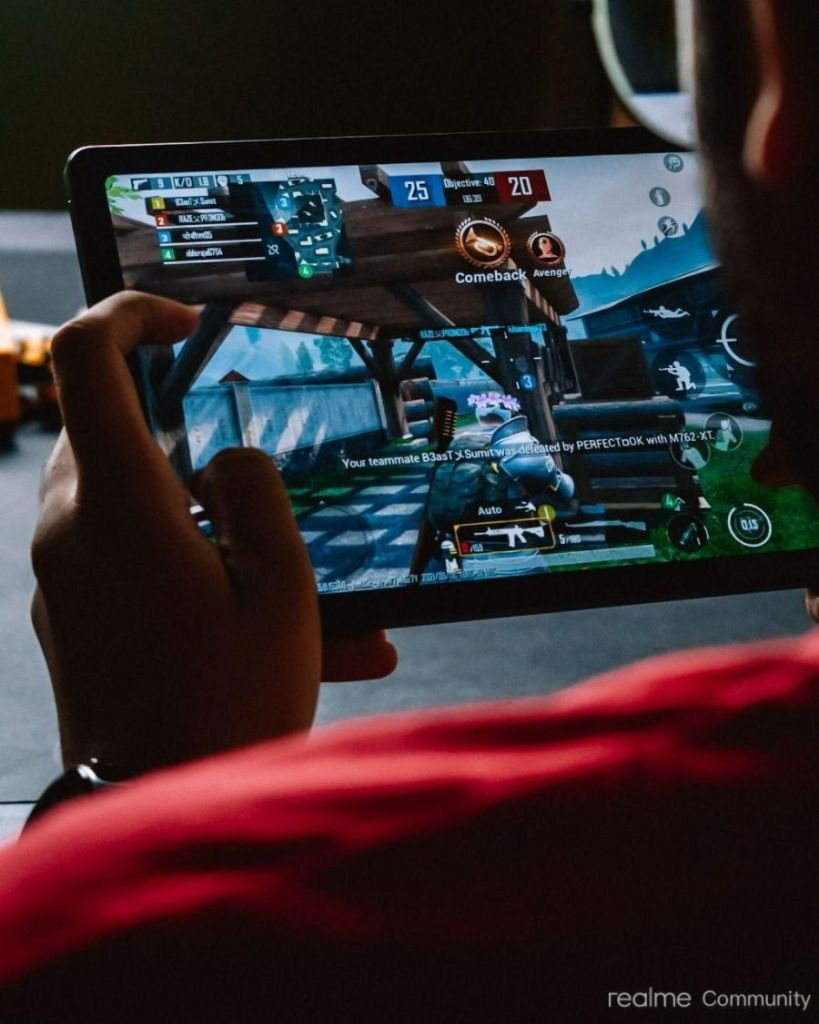 Gaming on the realme Pad